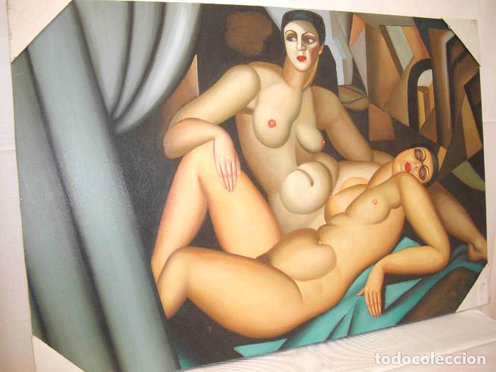 OLEO DOS MUJERES DESNUDAS (Arte - Pintura - Pintura al Óleo Contemporánea )