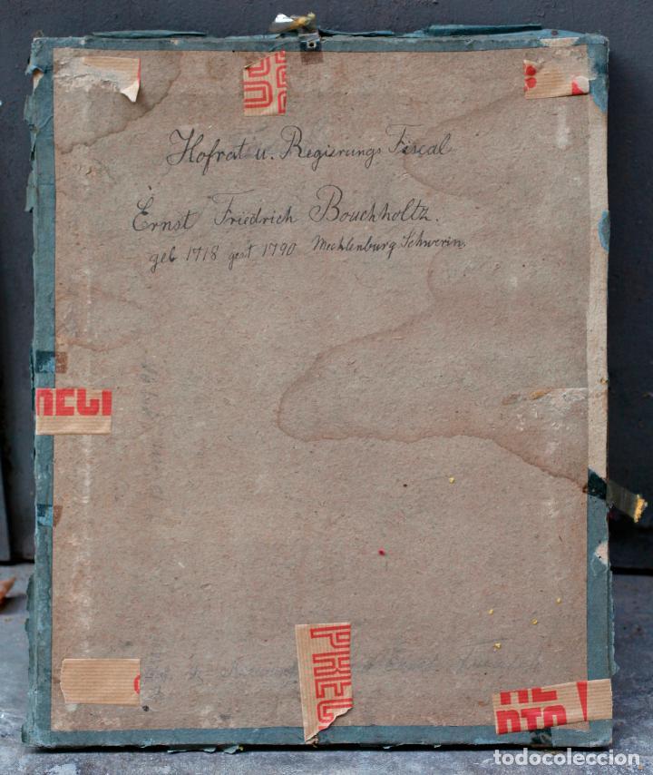 Arte: Retrato de Ernst Friederich Bouchholtz, pintura al pastel sobre papel, escuela alemana s.XVIII. - Foto 6 - 192330550