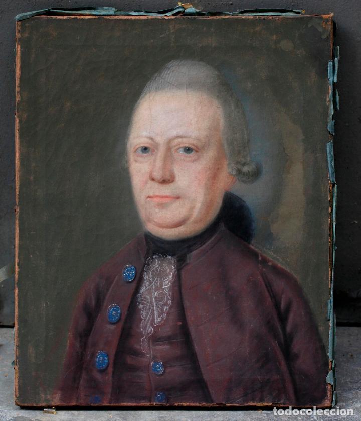 RETRATO DE ERNST FRIEDERICH BOUCHHOLTZ, PINTURA AL PASTEL SOBRE PAPEL, ESCUELA ALEMANA S.XVIII. (Arte - Pintura - Pintura al Óleo Antigua siglo XVIII)
