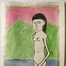 Arte: INTERESANTE ACUARELA ORIGINAL FIRMADA, EXPRESIONISMO ALEMAN, POSIBLMENTE AÑOS 20. Lote 192337293