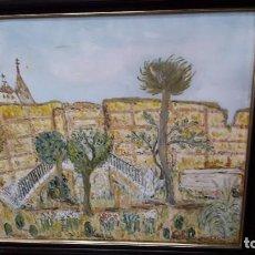 Arte: PAISAJE DE PUEBLO. Lote 192563877