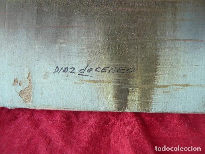 Arte: OLEO SOBRE TELA - FIRMADO DIAZ DE CEREO - PAISAJE - Foto 7 - 192806571