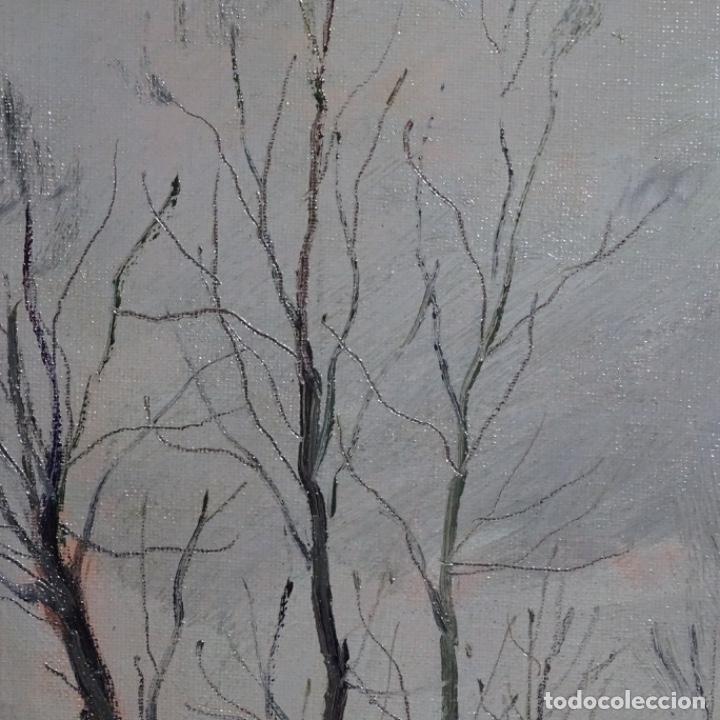 Arte: Oleo sobre tablex de Joan vila puig (1890-1963).paisaje de santa Coloma de farnes.bien enmarcado. - Foto 6 - 192844283