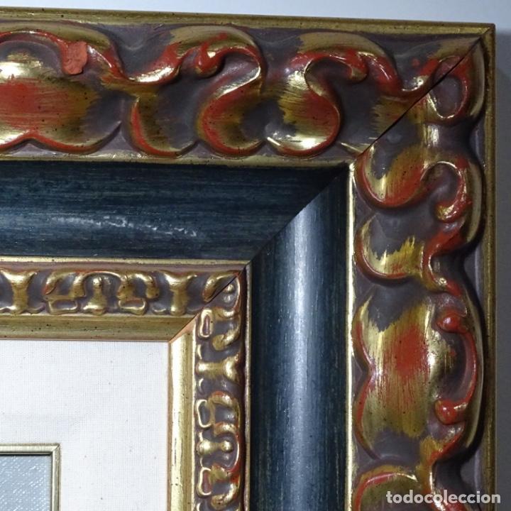 Arte: Oleo sobre tablex de Joan vila puig (1890-1963).paisaje de santa Coloma de farnes.bien enmarcado. - Foto 15 - 192844283