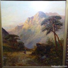 Arte: ÓLEO SOBRE TELA PEGADO A TABLA.ESCUELA CATALANA DE GRAN CALIDAD.. Lote 192844713