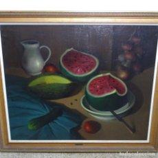 Arte: GRAN ÓLEO SOBRE TELA DE RAMON CALSINA I BARO (1901-1992).BODEGON.FECHADO 1964.. Lote 192845780