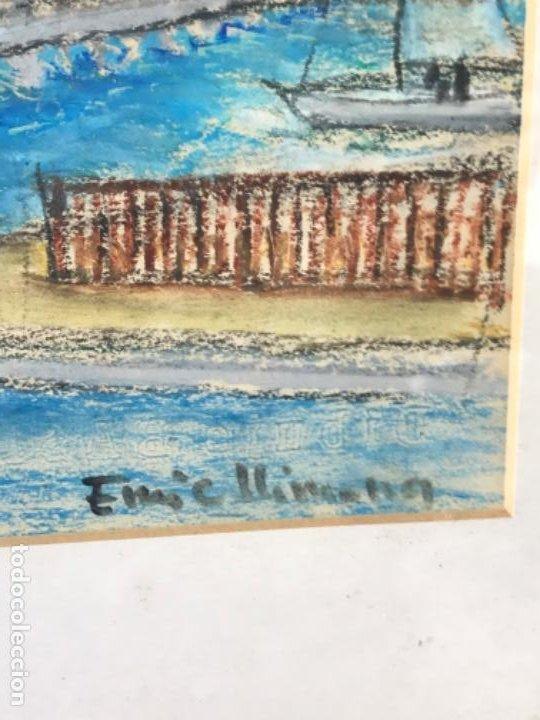 Arte: ENRIC LLIMONA TECNICA MIXTA DE CERA SOBRE PAPEL. BARCELONA MAREMAGNUM. - Foto 3 - 192876782