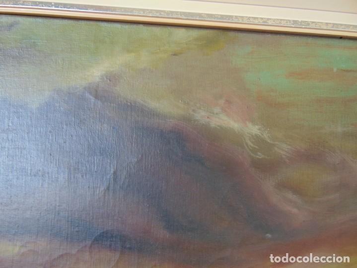 Arte: PINTURA OLEO SOBRE LIENZO BARCOS ACORAZADOS GUERRA TEMA MARINO MARINA BANDERA DE ESPAÑA FIRMADO - Foto 7 - 192894471