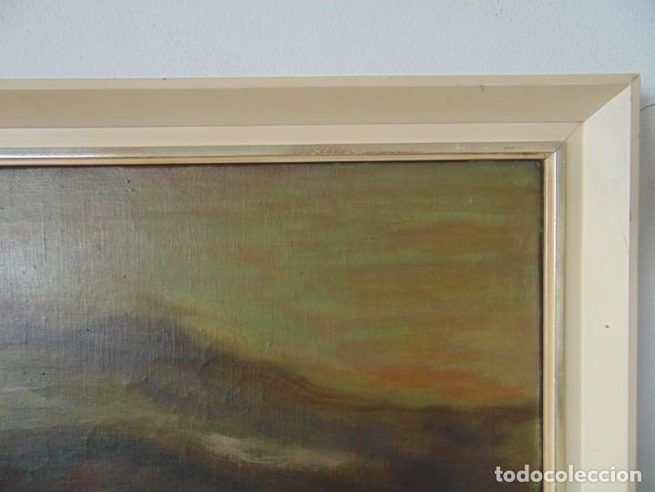 Arte: PINTURA OLEO SOBRE LIENZO BARCOS ACORAZADOS GUERRA TEMA MARINO MARINA BANDERA DE ESPAÑA FIRMADO - Foto 12 - 192894471