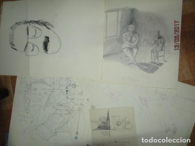 Arte: antiguos diujos a lapiz proceden de alicante años 60 70 - Foto 2 - 192927041
