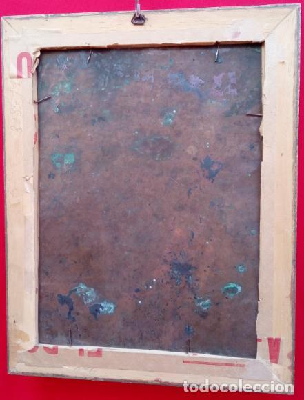 Arte: ÓLEO S/COBRE -SAN JOSÉ CON EL NIÑO-. ESCUELA BARROCA SEVILANA FINALES SIGLO XVII. DIM.- 34X27 CMS. - Foto 5 - 192932003