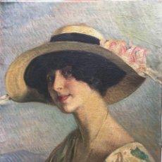 Art: NOGUE MASSO JOSÉ (1880-1973) PINTOR ESPAÑOL. OLEO SOBRE TELA POSTERIORMENTE PEGADO A MADERA. Lote 186145995
