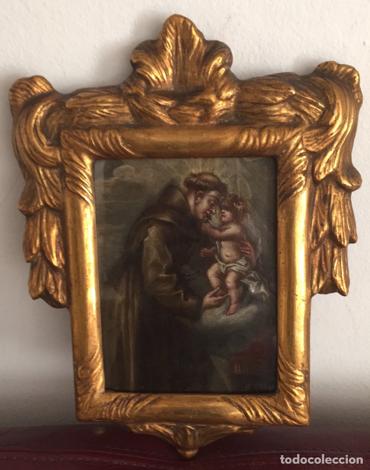 Arte: óleo sobre cobre de temática religiosa - Foto 4 - 193076082