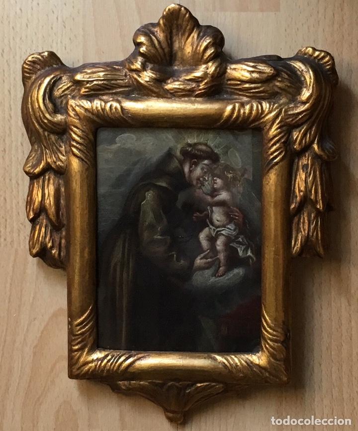 ÓLEO SOBRE COBRE DE TEMÁTICA RELIGIOSA (Arte - Pintura - Pintura al Óleo Antigua siglo XVIII)