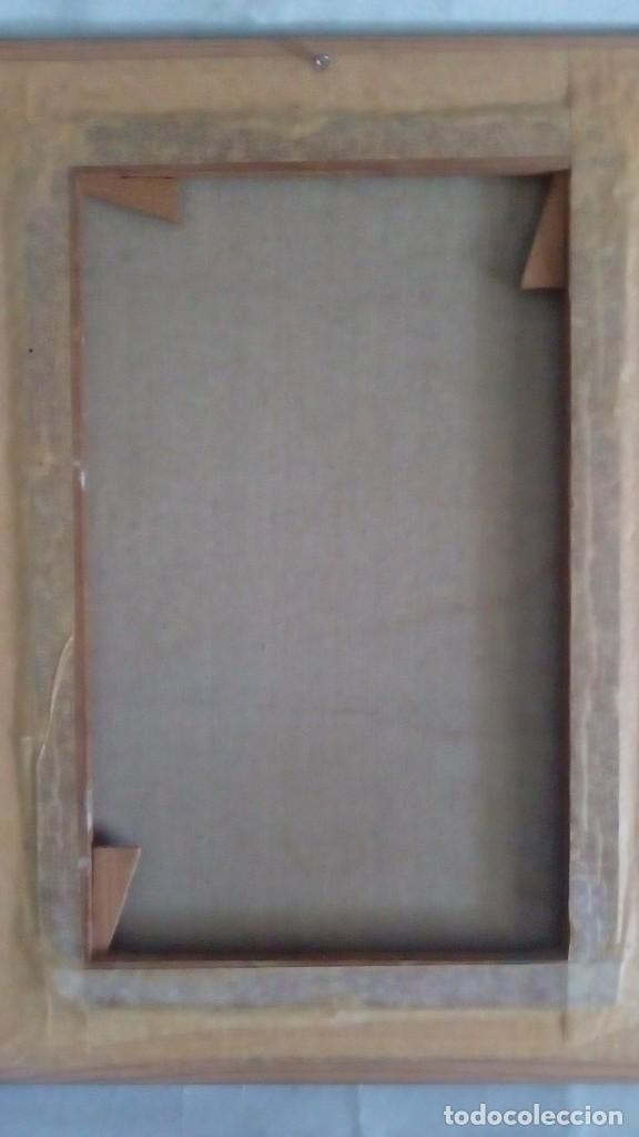 Arte: Cuadro sobre lienzo al Óleo. Méxicanos. - Foto 2 - 193077307