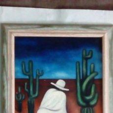 Arte: CUADRO SOBRE LIENZO AL ÓLEO. MÉXICANOS.. Lote 193077307