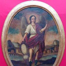 Arte: ÓLEO S/LIENZO OVALADO CON MARCO DE ÉPOCA. SIGLO XVII -SAN RAFAEL-. CÍRCULO DE ANTONIO DEL CASTILLO. . Lote 193177795
