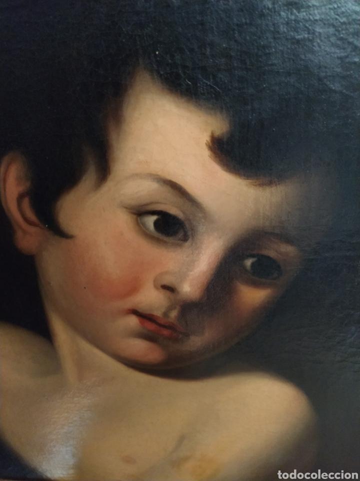 Arte: Óleo sobre lienzo Apolo o Efebo. Finales siglo XVIII. - Foto 4 - 193186722