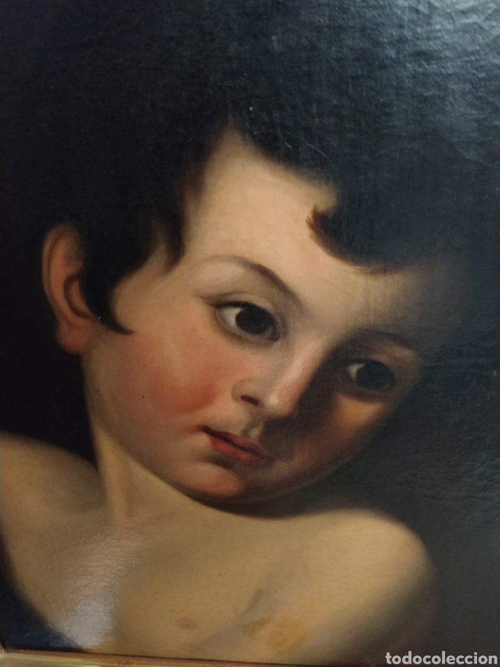Arte: Óleo sobre lienzo Apolo o Efebo. Finales siglo XVIII. - Foto 5 - 193186722