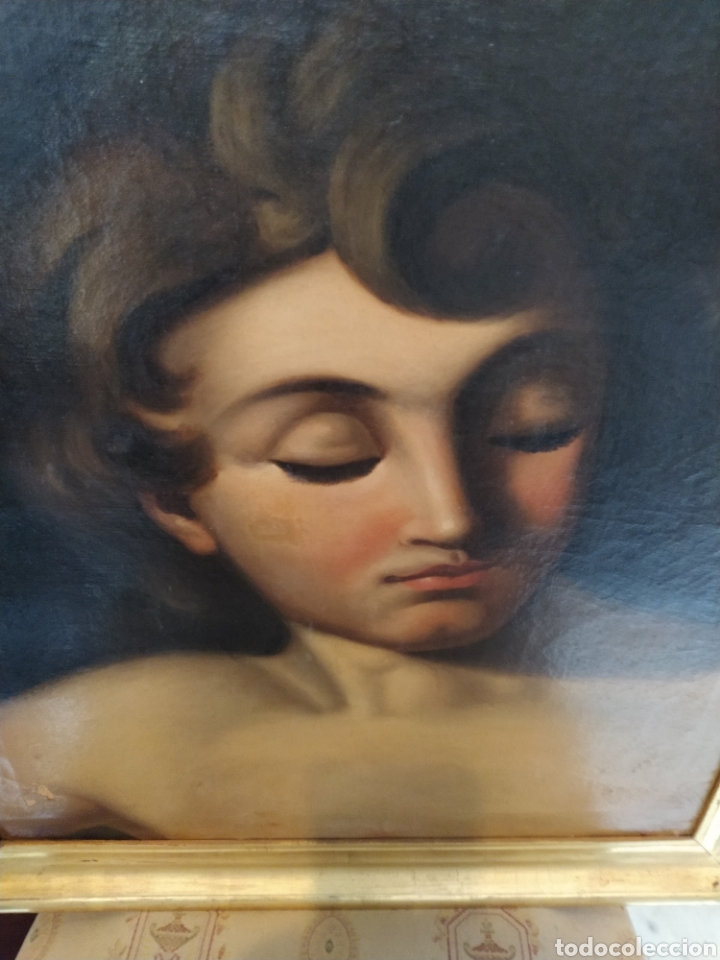Arte: Óleo sobre lienzo Apolo o Efebo. Finales siglo XVIII. - Foto 3 - 193187081
