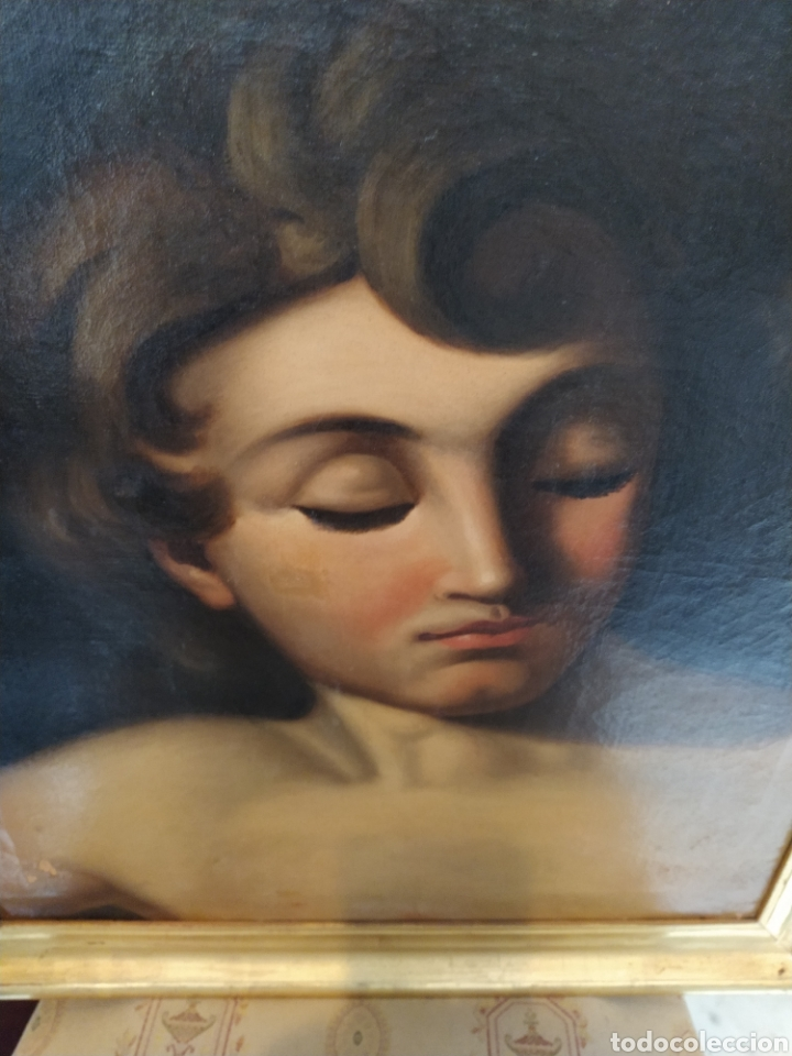 Arte: Óleo sobre lienzo Apolo o Efebo. Finales siglo XVIII. - Foto 4 - 193187081