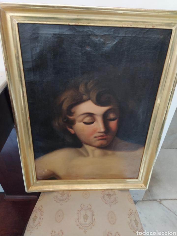 ÓLEO SOBRE LIENZO APOLO O EFEBO. FINALES SIGLO XVIII. (Arte - Pintura - Pintura al Óleo Antigua siglo XVIII)