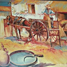 Art: OLEO SOBRE TABLEX ESCENA COSTUMBRISTA. 54 X 64 CM.. Lote 193277238