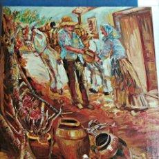 Art: OLEO SOBRE TABLEX ESCENA COSTUMBRISTA, 54 X 64 CM.. Lote 193277320