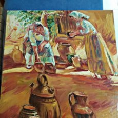 Art: OLEO SOBRE TABLEX ESCENA COSTUMBRISTA. 54 X 64 CM.. Lote 193277408