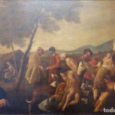 Arte: CRISTIANOS Y MUSULMANES. ÓLEO/LIENZO. MED: 154 X 99 CM. ESCUELA FLAMENCA, S. XVII-XVIII.. Lote 193284005