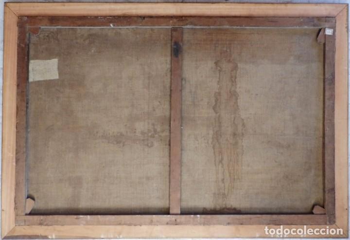 Arte: El mercado de la esclavitud. Escuela flamneca. Siglo XVII. Óleo/Lienzo. Med: 154 x 99 cm. - Foto 30 - 193284005