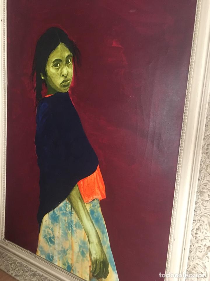 Arte: RAMÓN JESÚS VIVES (Barcelona 1939) Una joven Oleo sobre lienzo 65x100cm Firmada y fechada 1974 - Foto 3 - 193292450