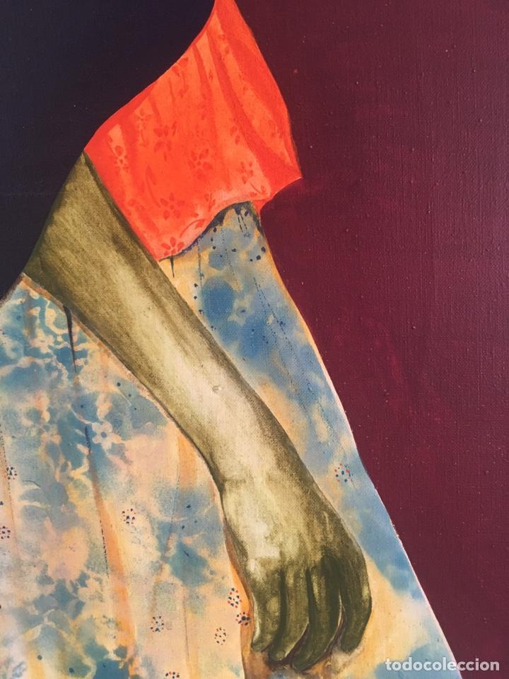 Arte: RAMÓN JESÚS VIVES (Barcelona 1939) Una joven Oleo sobre lienzo 65x100cm Firmada y fechada 1974 - Foto 6 - 193292450