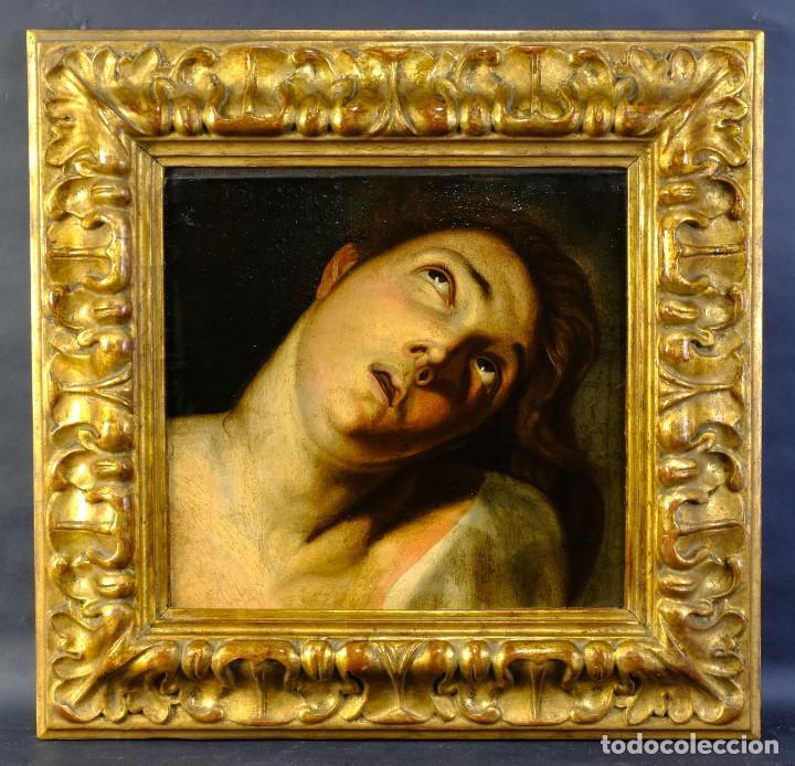 Arte: Óleo sobre lienzo Joven Escuela francesa siglo XVIII - Foto 2 - 193751711