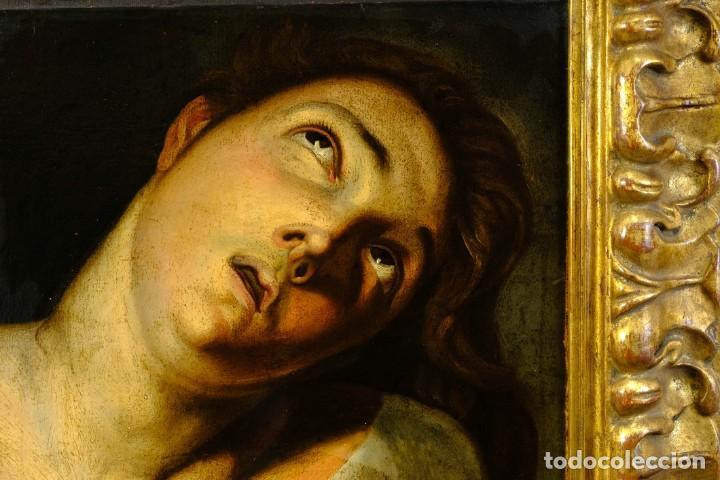 Arte: Óleo sobre lienzo Joven Escuela francesa siglo XVIII - Foto 3 - 193751711