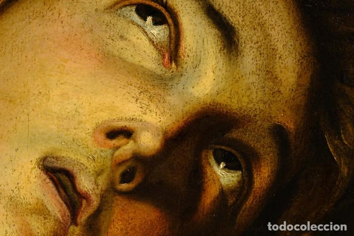 Arte: Óleo sobre lienzo Joven Escuela francesa siglo XVIII - Foto 8 - 193751711