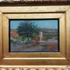 Arte: PAISAJE DE LA CASA DEL PINTO . FEDERICO GODOY CASTRO 51X41. Lote 193751822