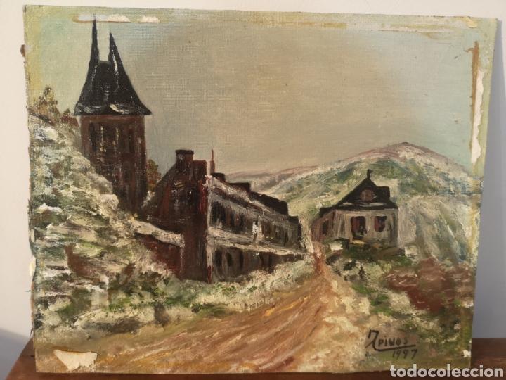 OLEO SOBRE PANEL, FIRMADO PINOS 1997, SIN ENMARCAR, 28X23CM (Arte - Pintura - Pintura al Óleo Contemporánea )