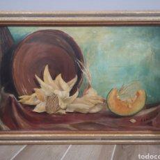 Arte: BODEGÓN DE MELCHOR ARACIL, MEDIDAS CON MARCO 71X47CM. Lote 193834528