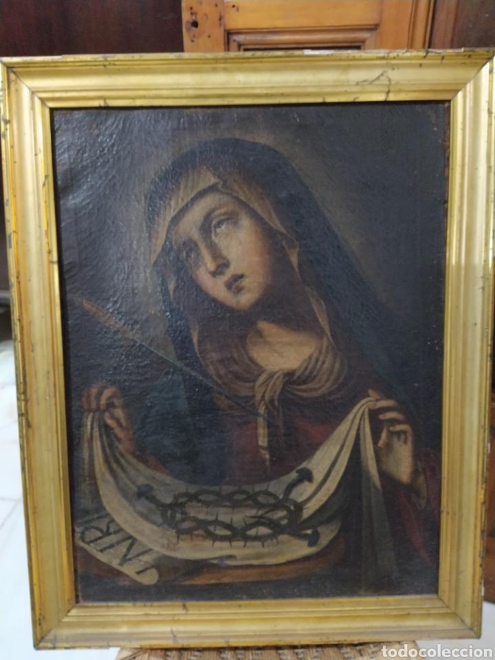 Arte: Bonito oleo sobre lienzo Dolorosa. Siglo XVIII. - Foto 2 - 193849776