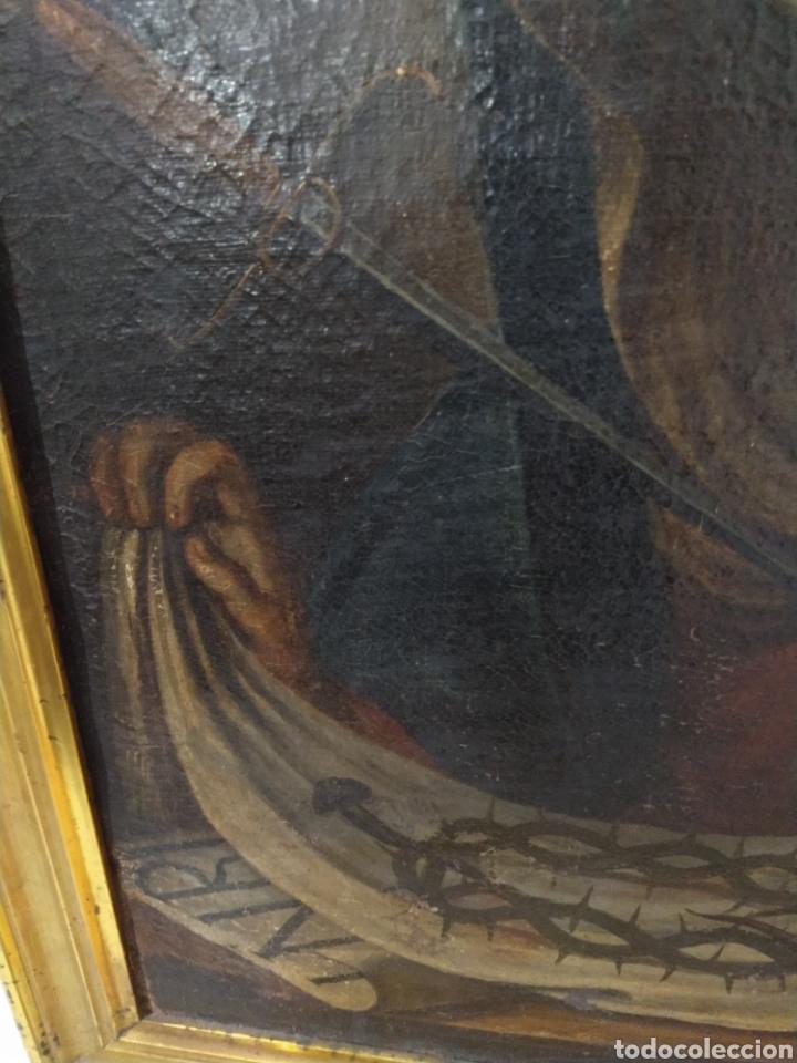 Arte: Bonito oleo sobre lienzo Dolorosa. Siglo XVIII. - Foto 4 - 193849776