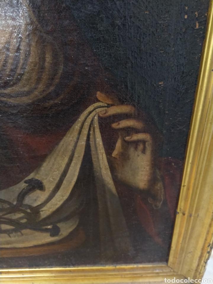 Arte: Bonito oleo sobre lienzo Dolorosa. Siglo XVIII. - Foto 5 - 193849776