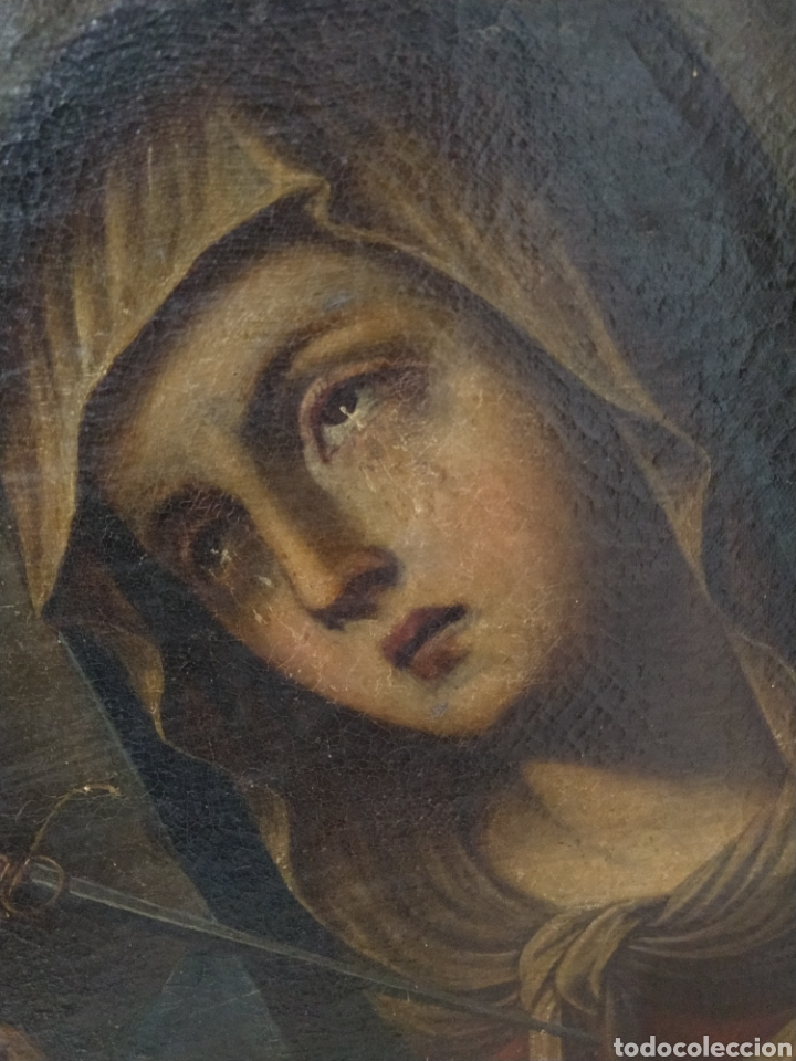BONITO OLEO SOBRE LIENZO DOLOROSA. SIGLO XVIII. (Arte - Pintura - Pintura al Óleo Antigua siglo XVIII)