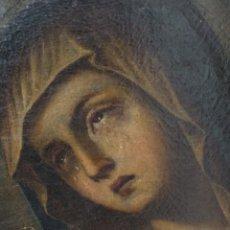 Arte: BONITO OLEO SOBRE LIENZO DOLOROSA. SIGLO XVIII.. Lote 193849776