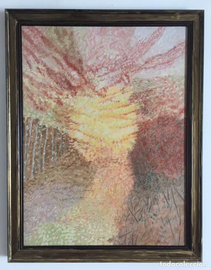 Arte: ESTHER BOIX (Girona, 1927 - 2014) Óleo sobre lienzo 81x 60cm Colección particular de la artista - Foto 2 - 193859493