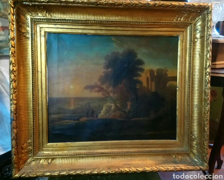 Arte: Escena con ruinas. Anonimo italiano s XVIII. - Foto 2 - 193871921