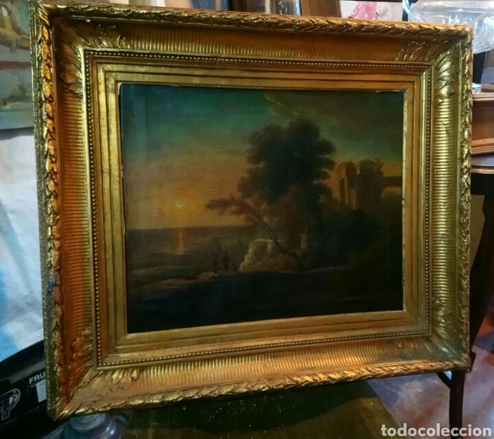 ESCENA CON RUINAS. ANONIMO ITALIANO S XVIII. (Arte - Pintura - Pintura al Óleo Antigua siglo XVIII)