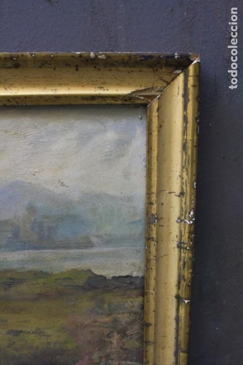 Arte: Campesinas, pintura al óleo sobre tabla, con marco, sin firmar. 42,5x29cm - Foto 3 - 193900132