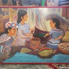 Arte: 71X52CM ENMARCADO CARLOS MOYA BARAHONA. Lote 193918292