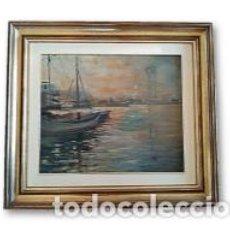 Arte: PINTOR LLUÍS FLOTATS I CANALS (1917/1987) - ÓLEO TITULADO NOTA DEL PORT. Lote 193958380
